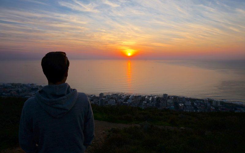 Coucher de soleil sur Cape Town, Signal Hill, Afrique du Sud