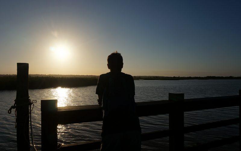 coucher de soleil, ste lucia, afrique du sud