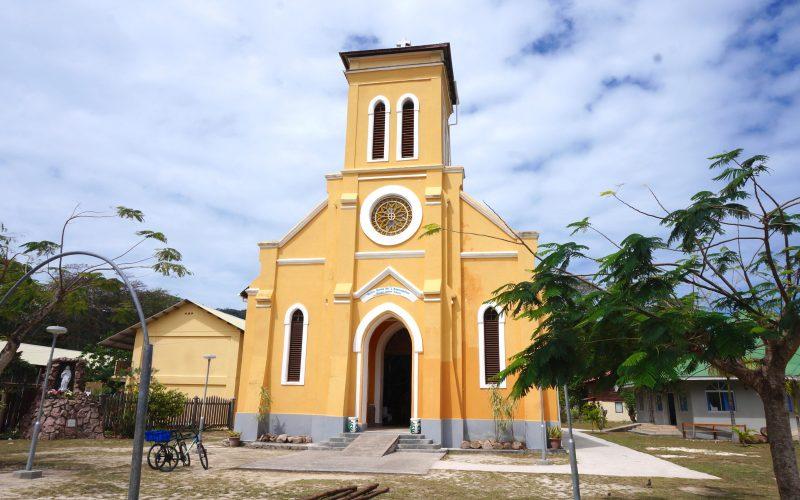 Eglise Notre Dame de l'Assomption, la Digue, Seychelles