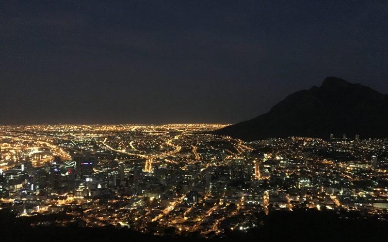 Cape town de nuit, Signal Hill, Afrique du Sud