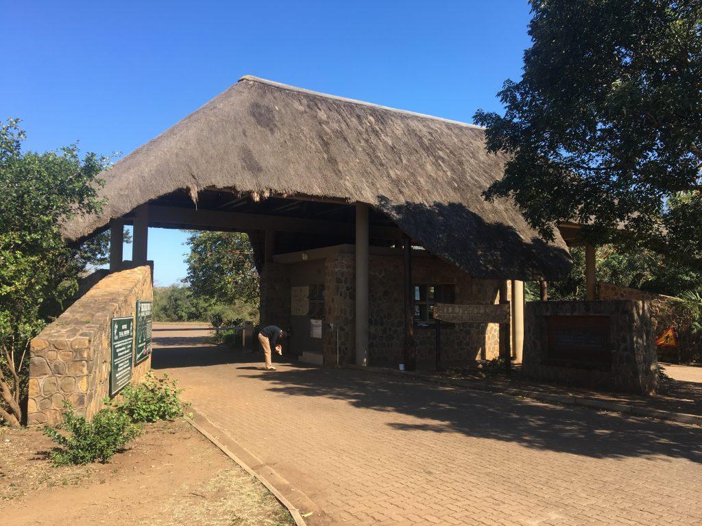 Entrée du parc Hluhluwe, afrique du sud