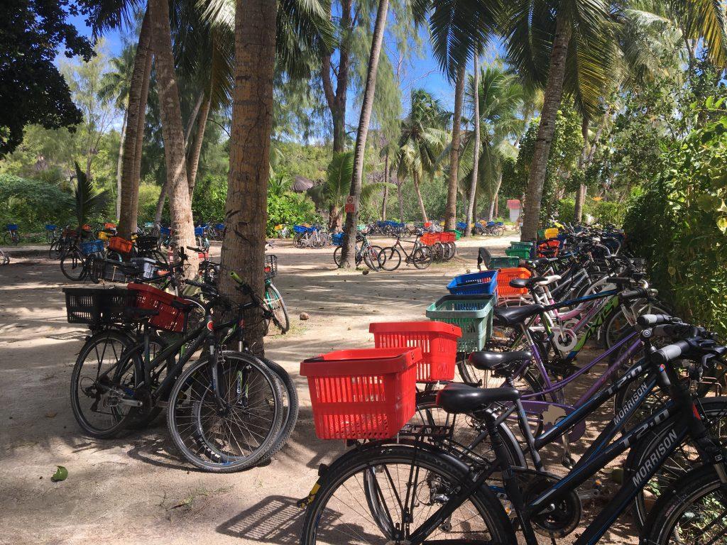 vélos, la digue, seychelles