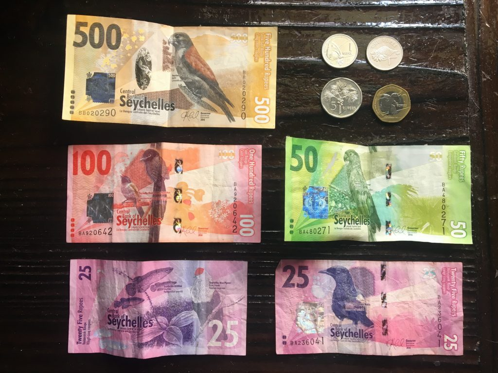 monnaie, seychelles