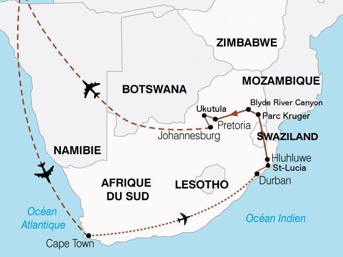 Carte Afrique Du Sud Parc Kruger.Afrique Du Sud Infos Pratiques Jolis Circuits