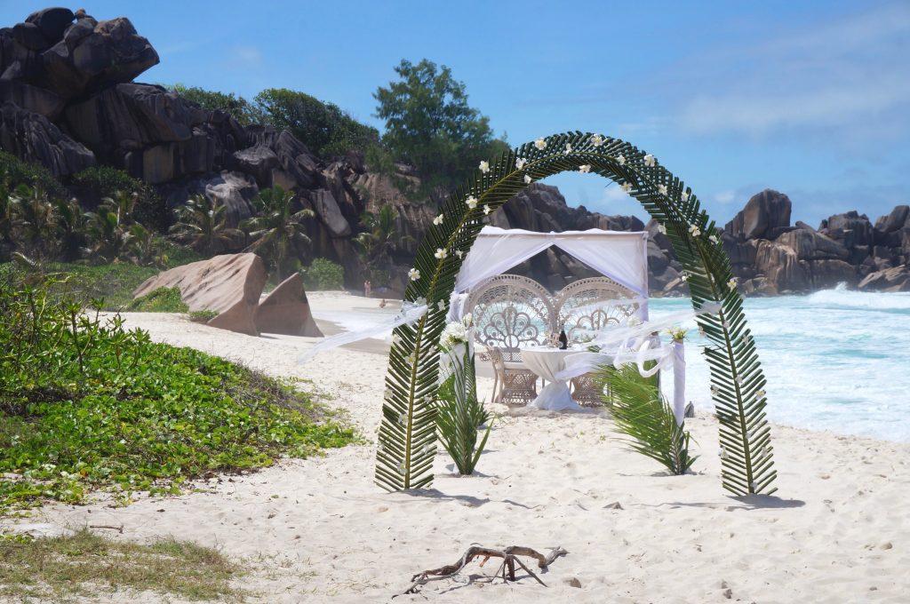 mariage, grand anse, la digue, seychelles