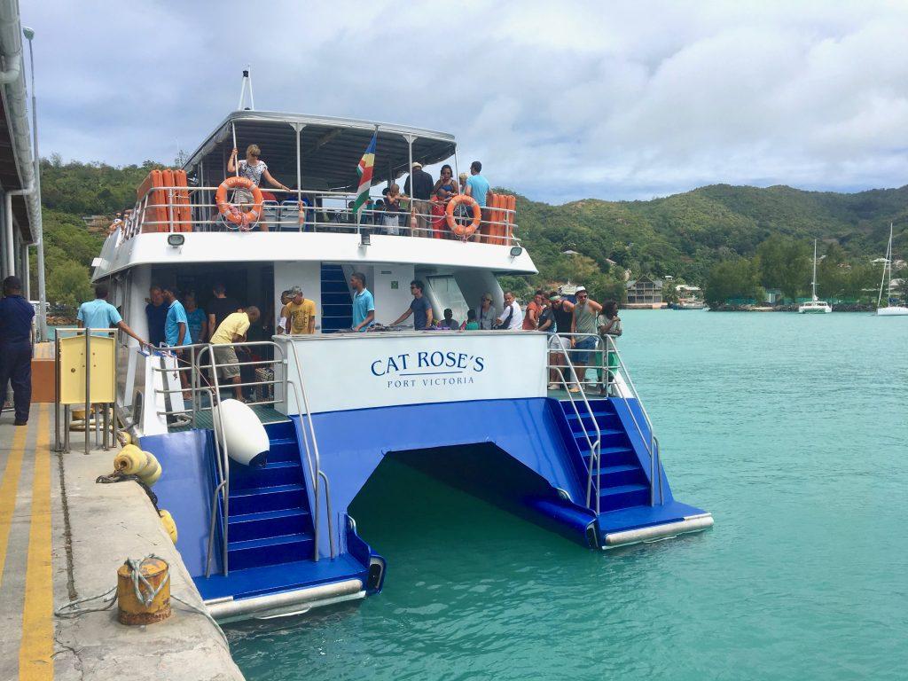 bateau cat coco, la digue, seychelles