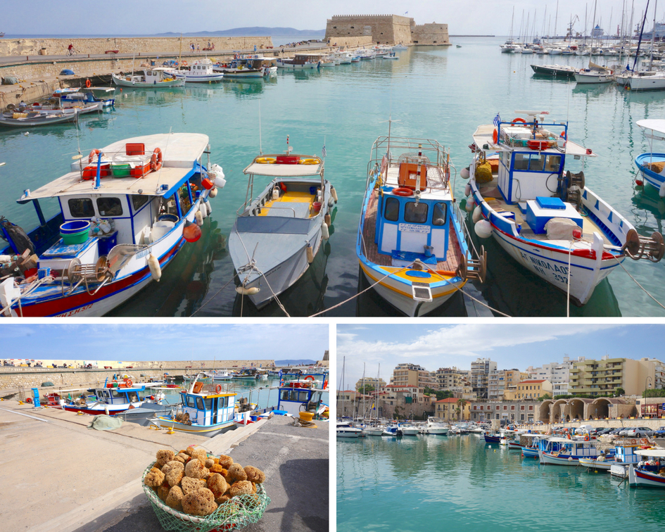 crete heraklion grece port