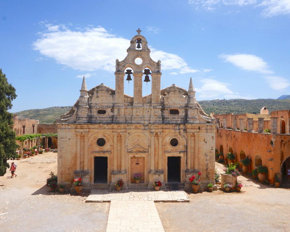 monastère d'arkadi en crête grèce
