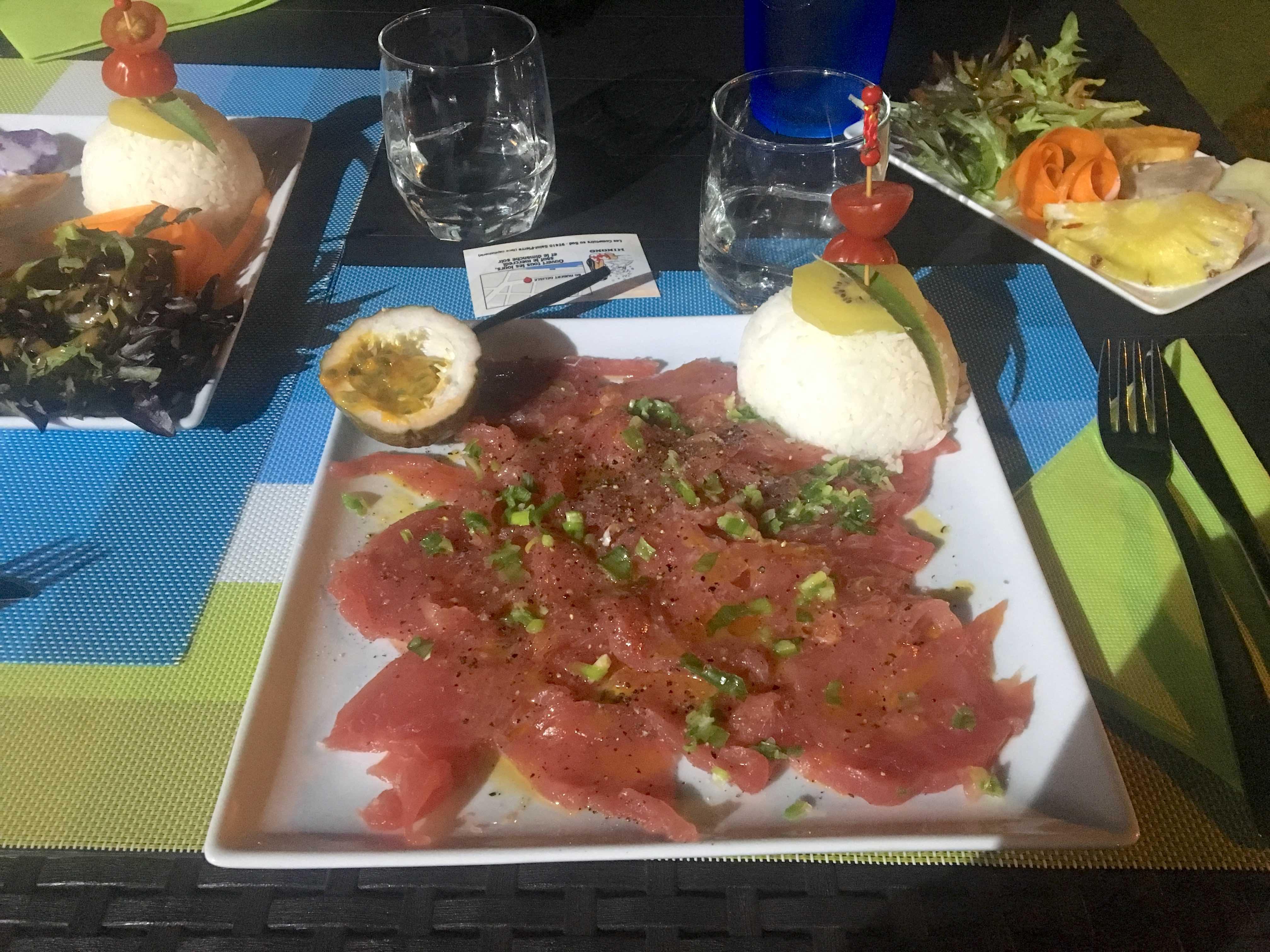 restaurant St Pierre, île de la réunion