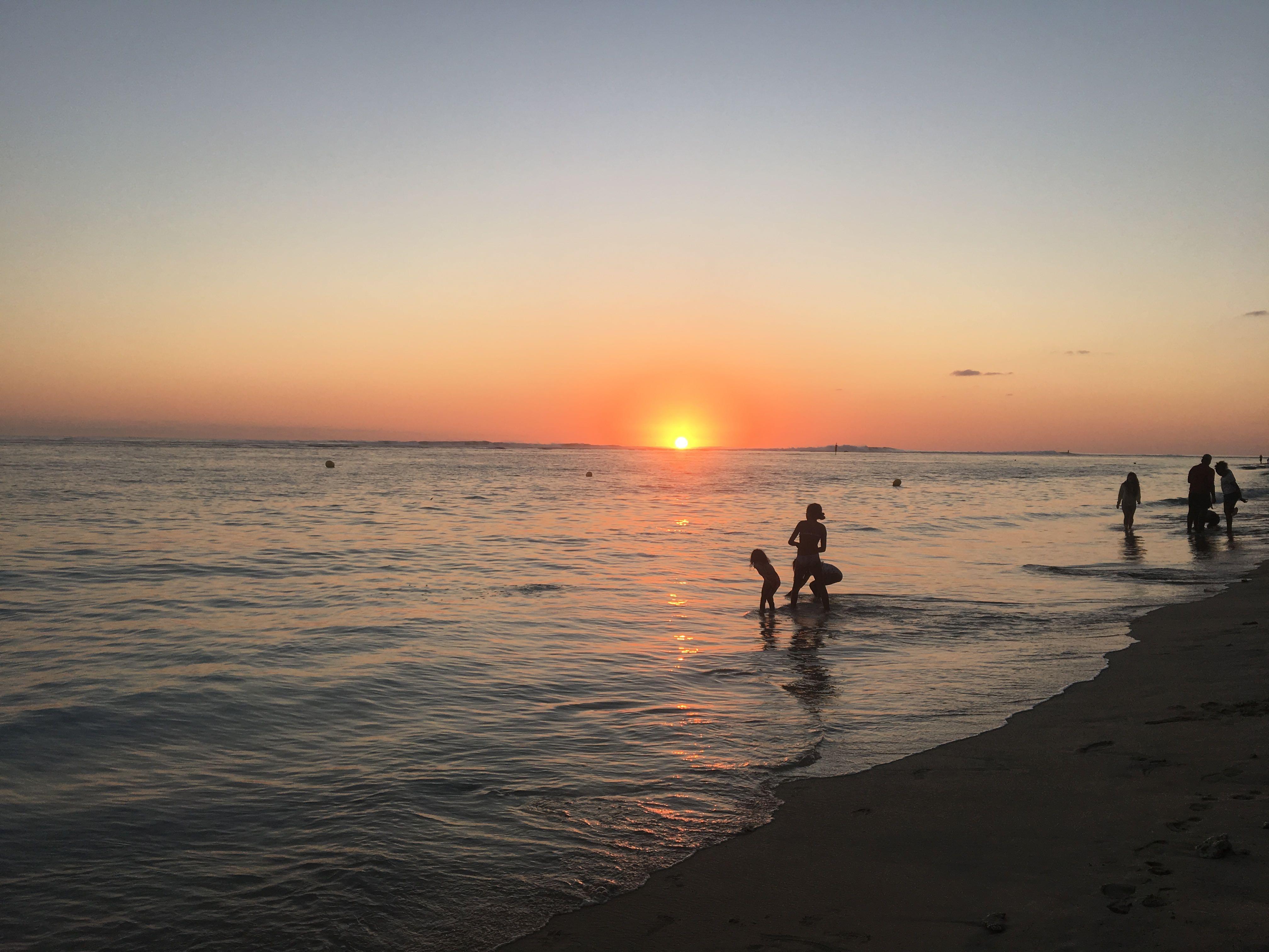 coucher de soleil, île de la réunion
