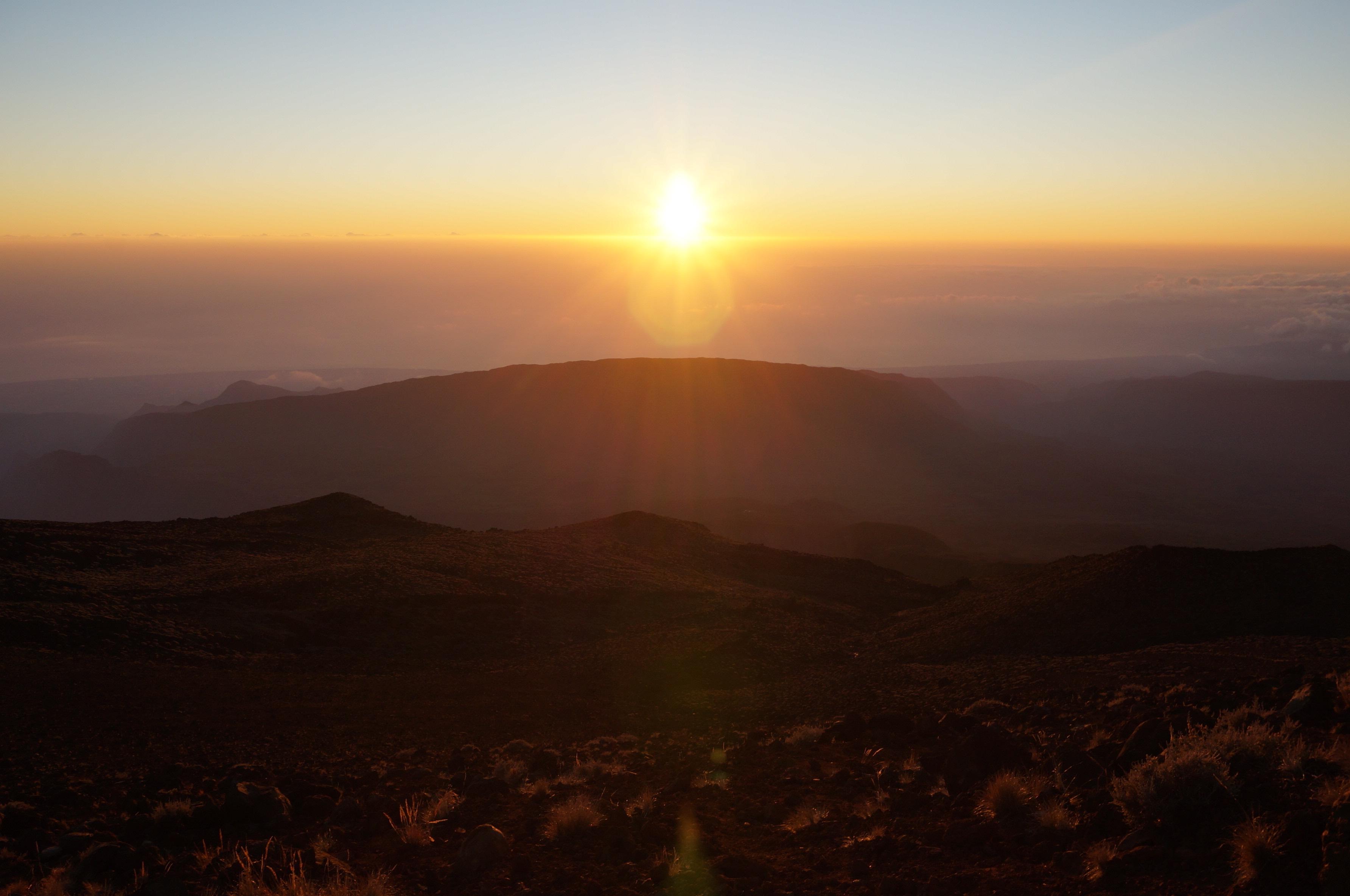 lever du soleil piton des neiges réunion