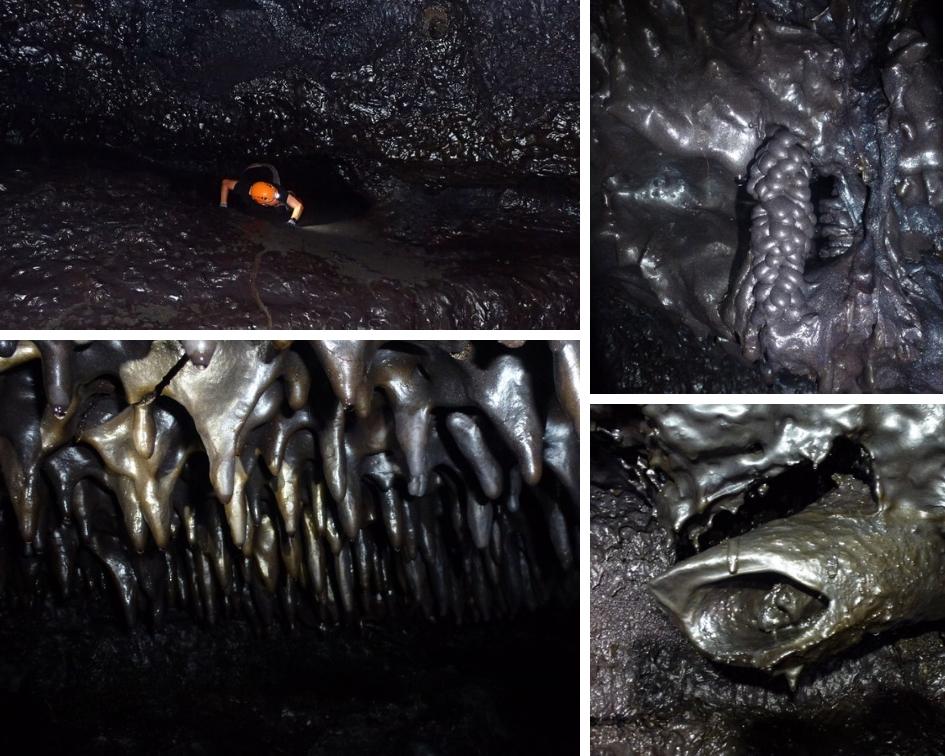 tunnels de lave, île de la réunion