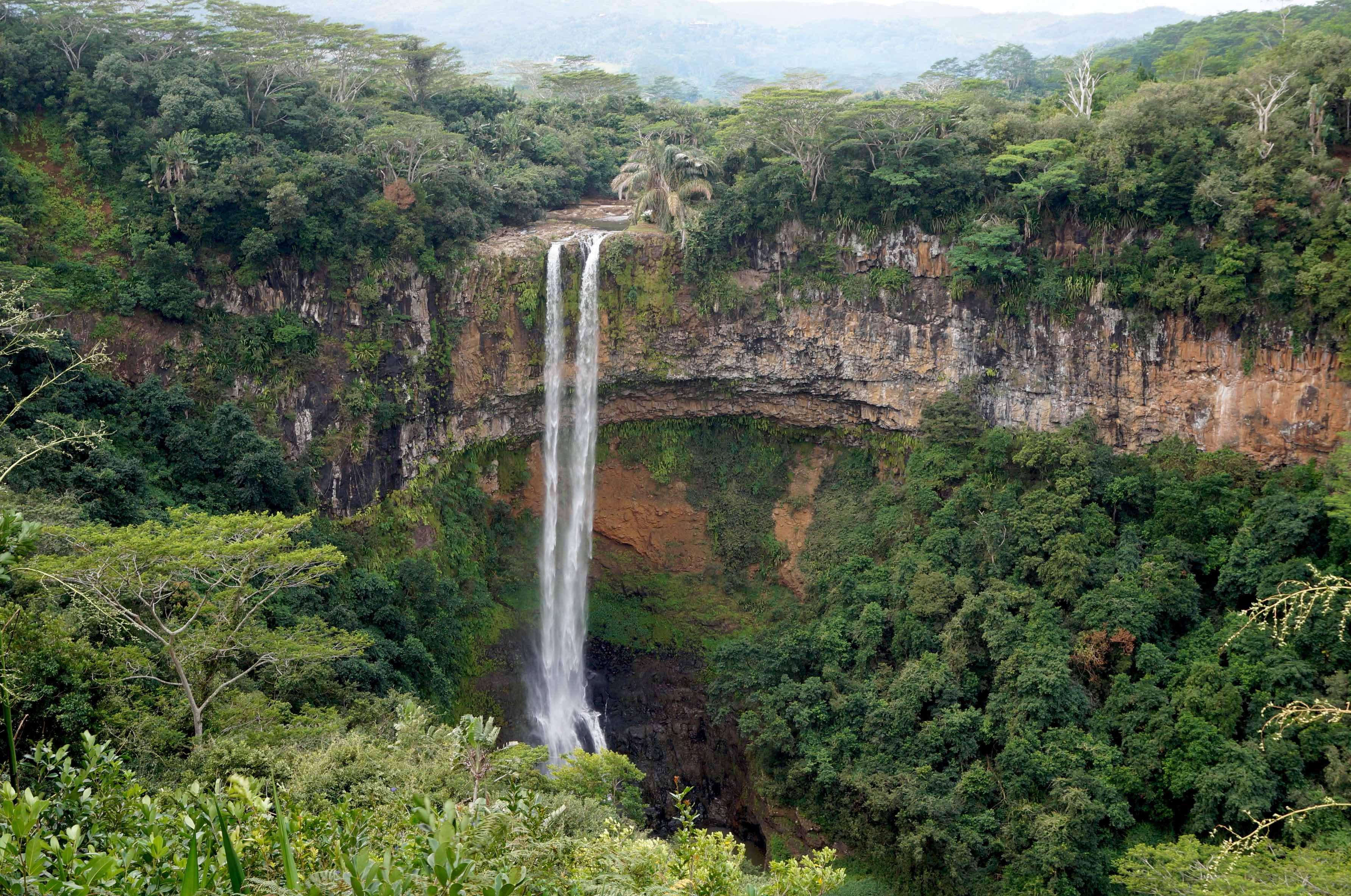 cascade chamarel, île maurice