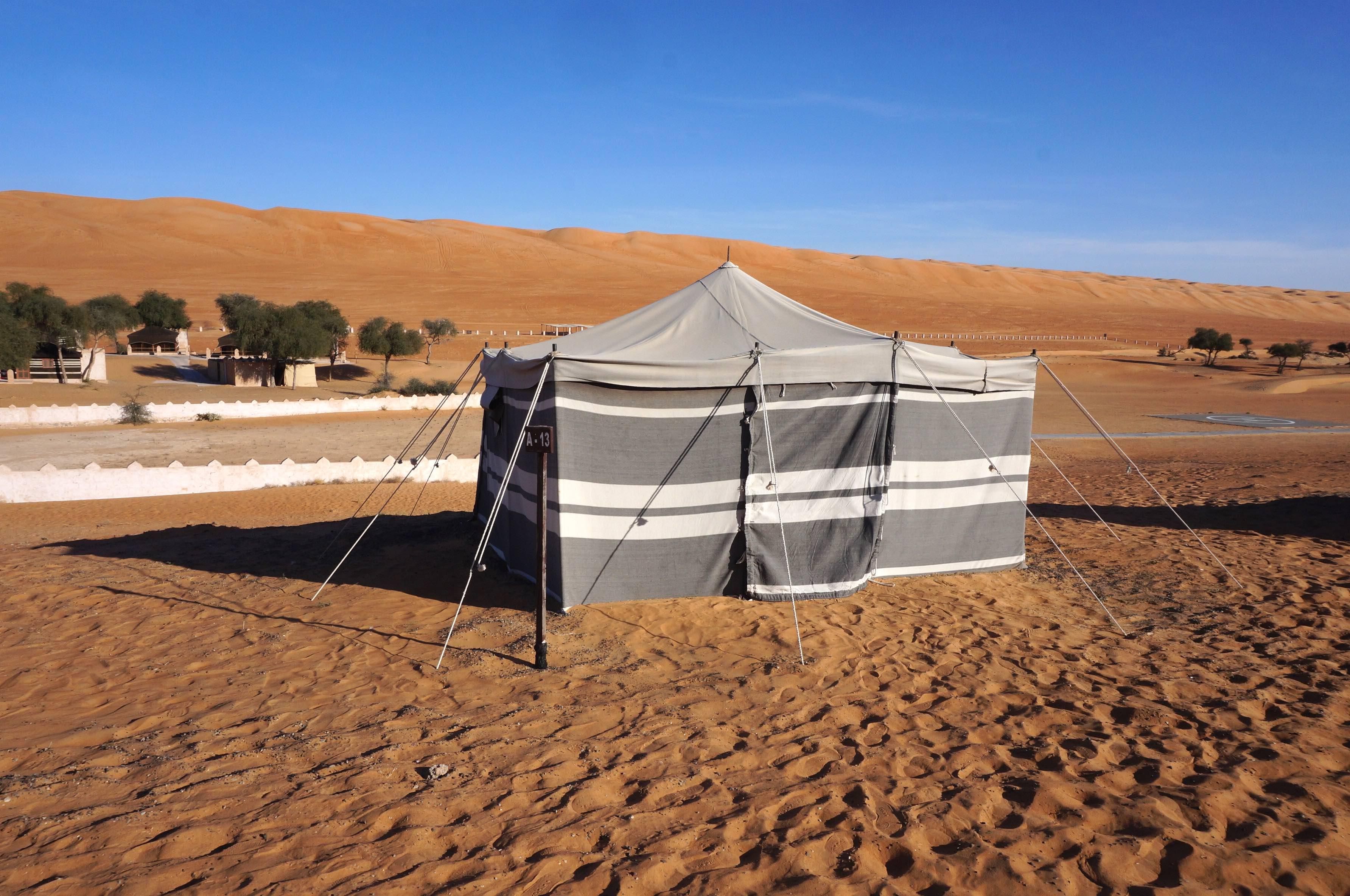 tente bedouine, désert, oman