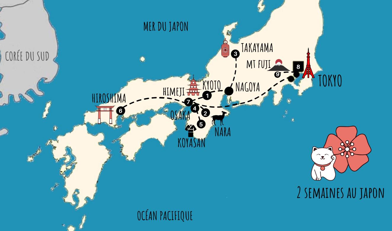 itineraire japon