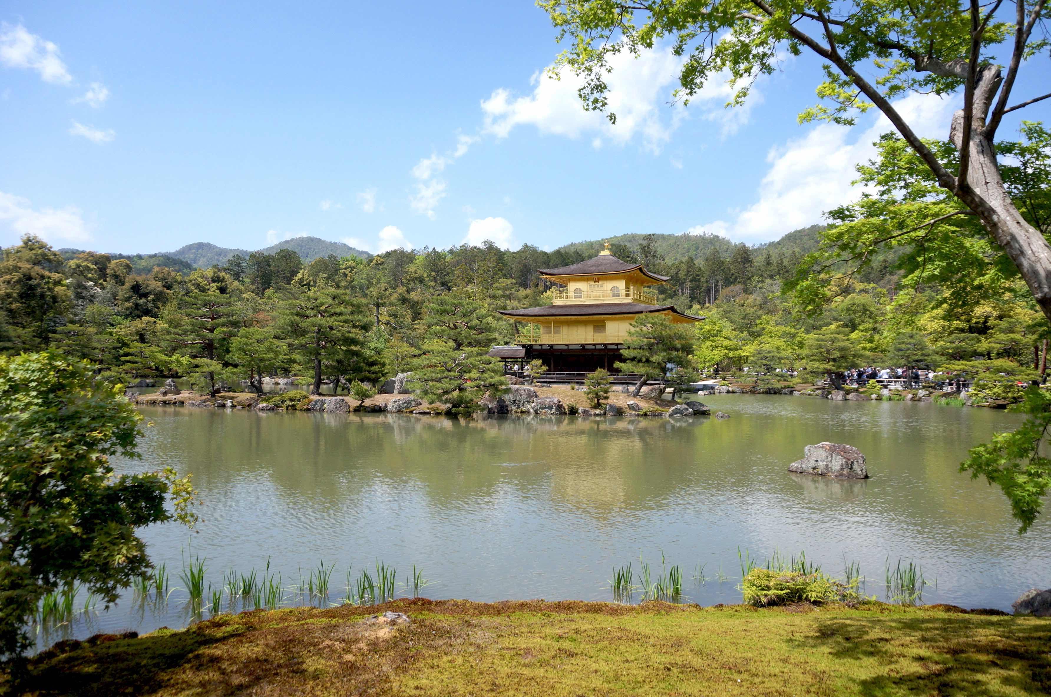 pavillon d'or, kinkaku-ji, kyoto, japon