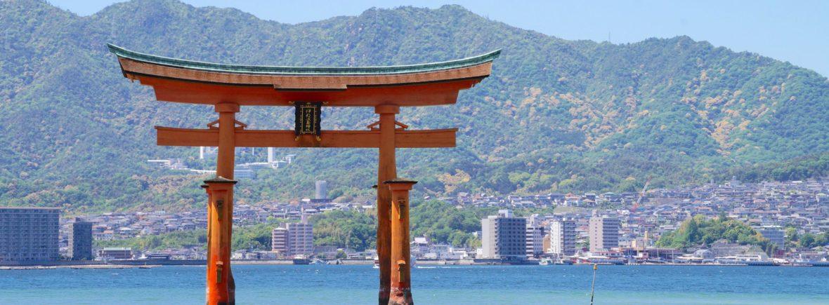 torii, ile de miyajima, japon, itsukushima