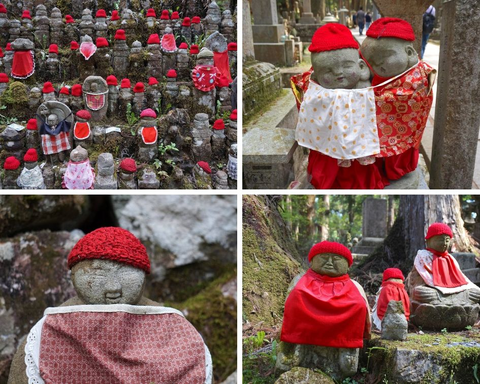 o-jizo san, koyasan, oku-no-in, japon