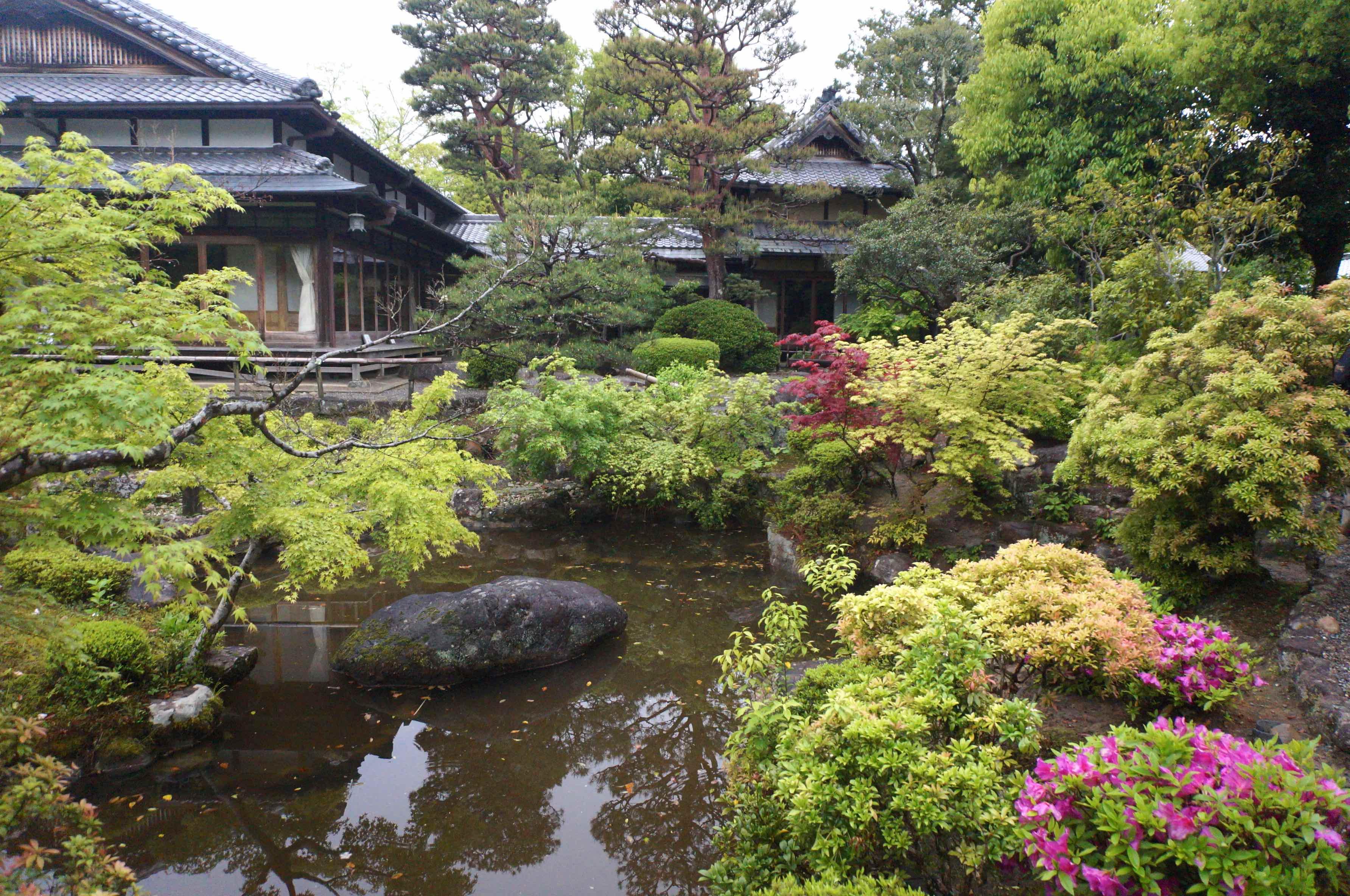 nara, japon, jardin yoshiki-en