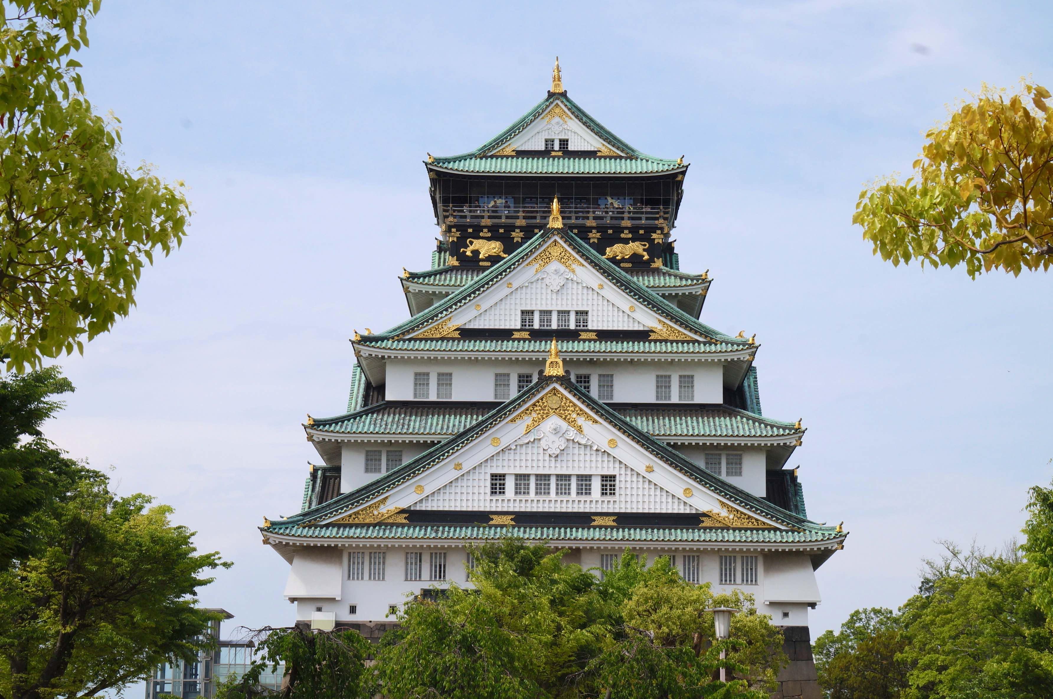 osaka-jo, chateau d'osaka, osaka, japon
