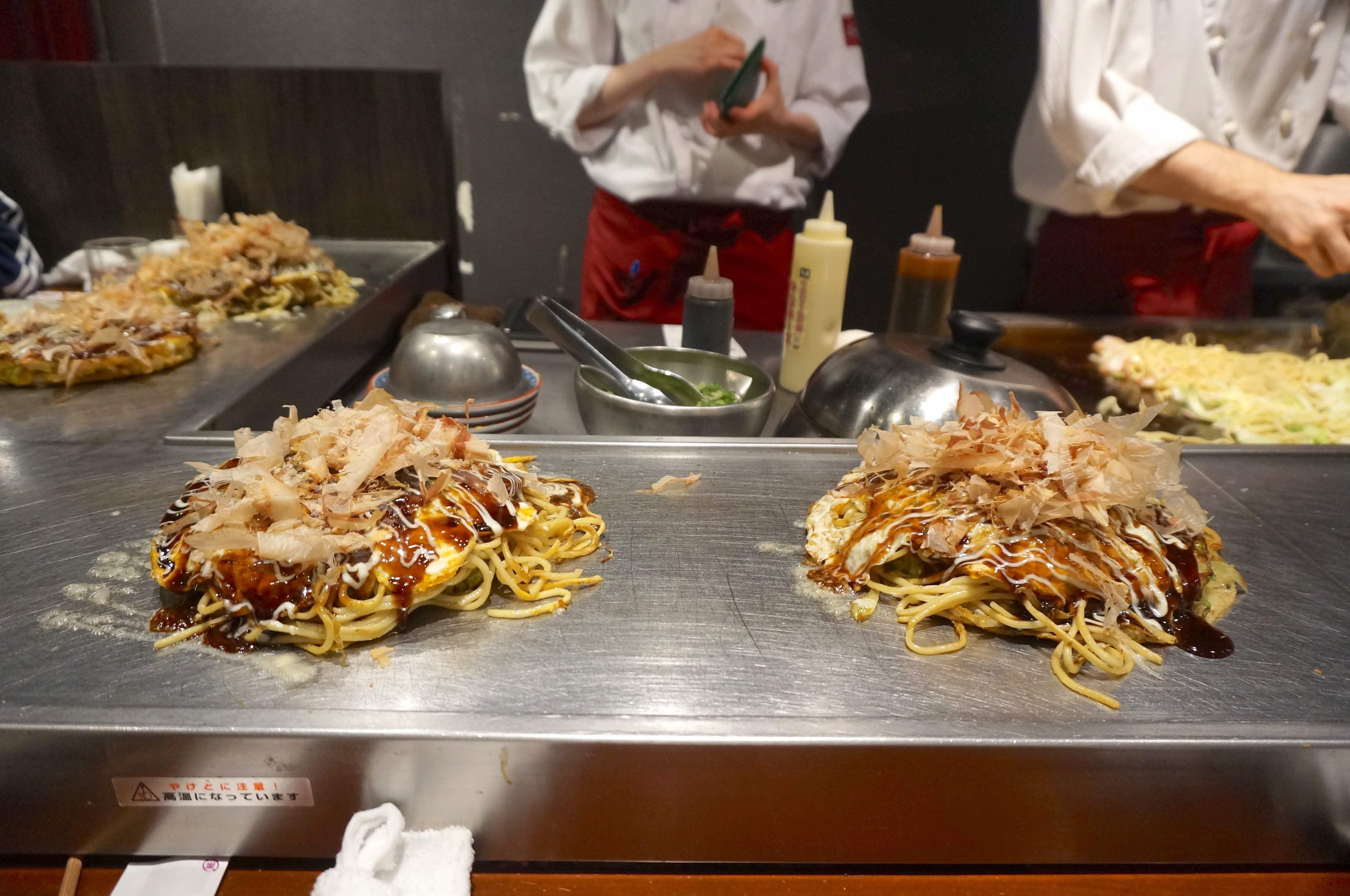 osaka, dotombori, japon, Okonomiyaki