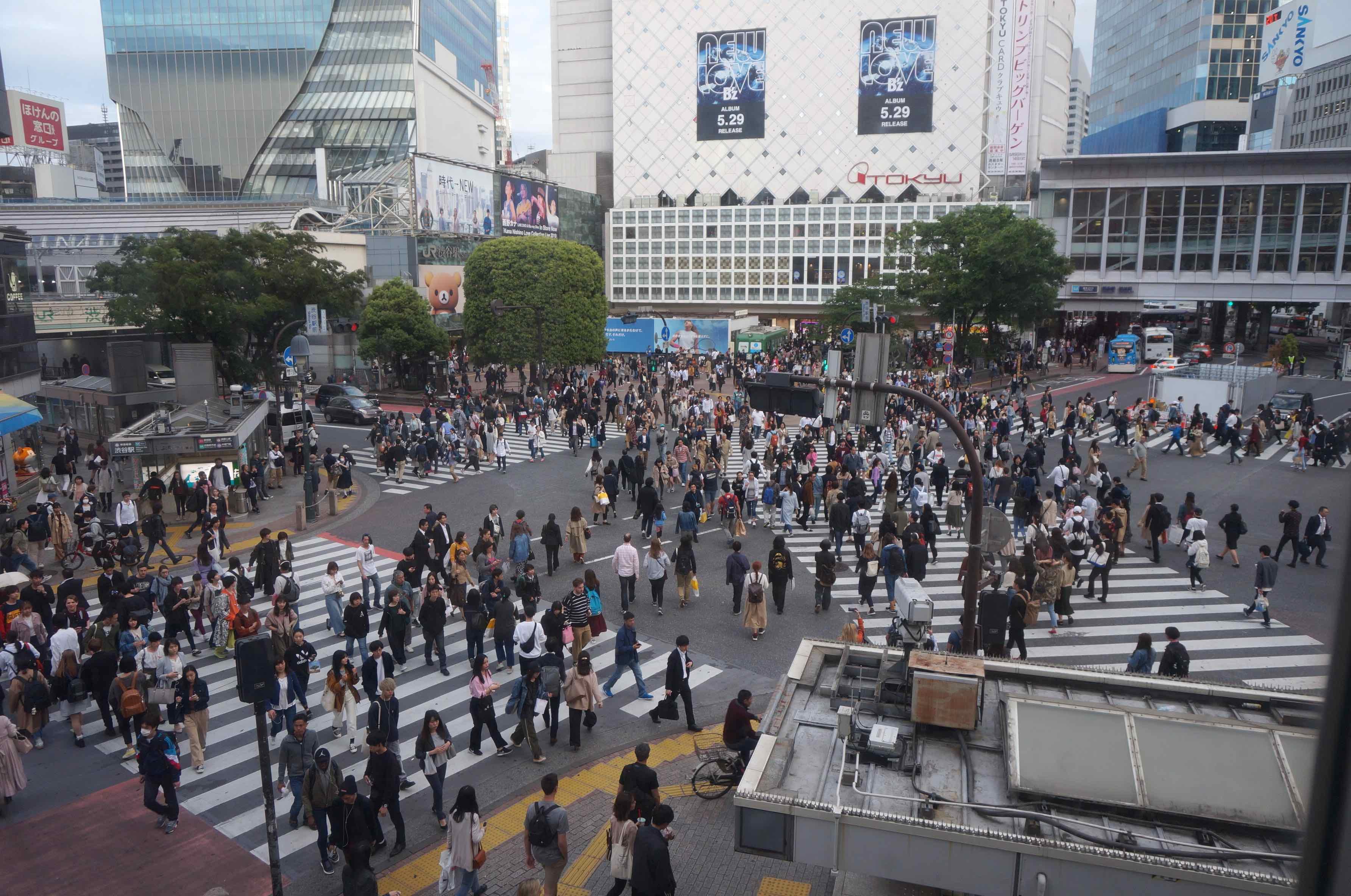 shibuya crossing, tokyo, japon