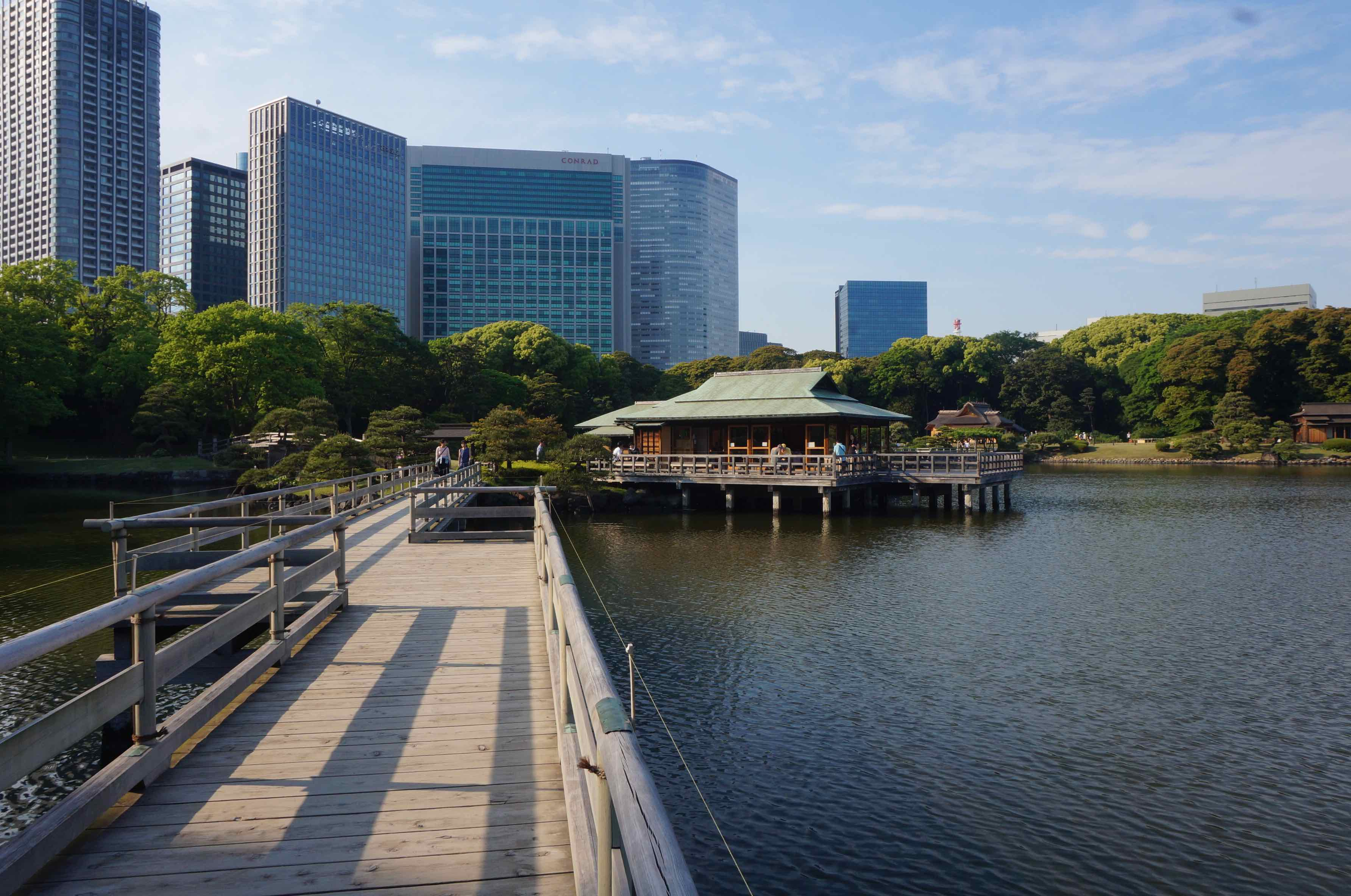 jardin de Hama-Rikyu, tokyo, japon