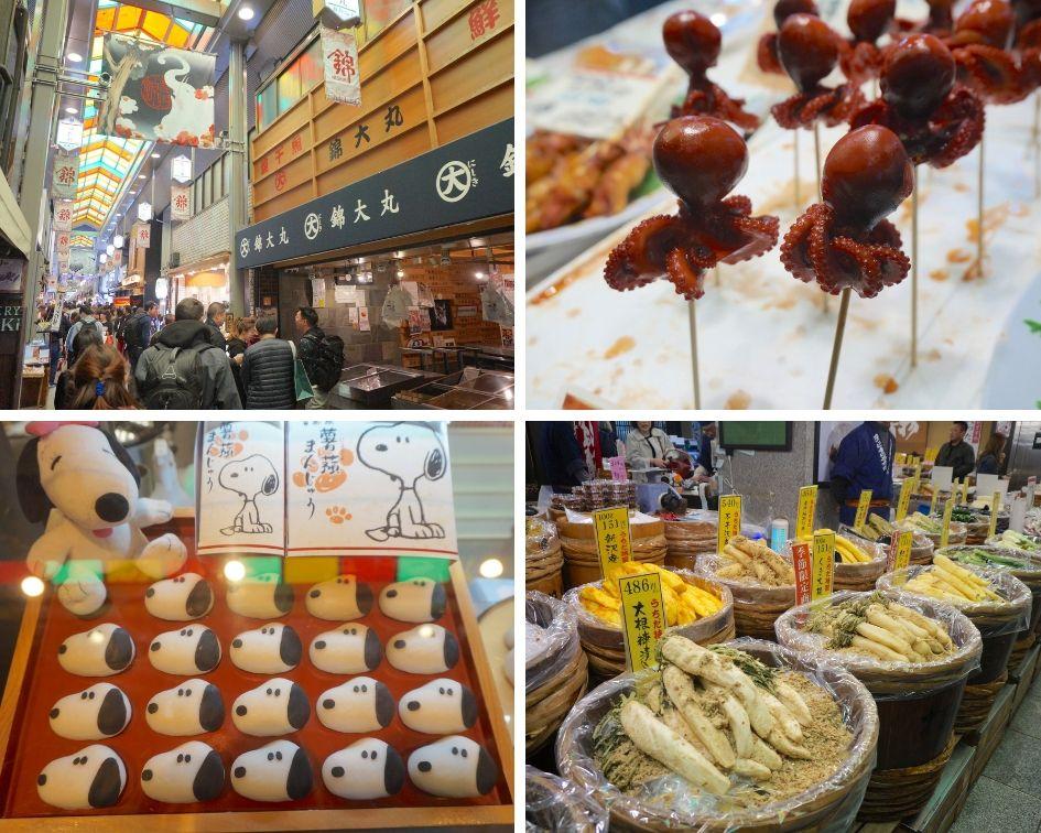 Marché de Nishiki, kyoto, japon