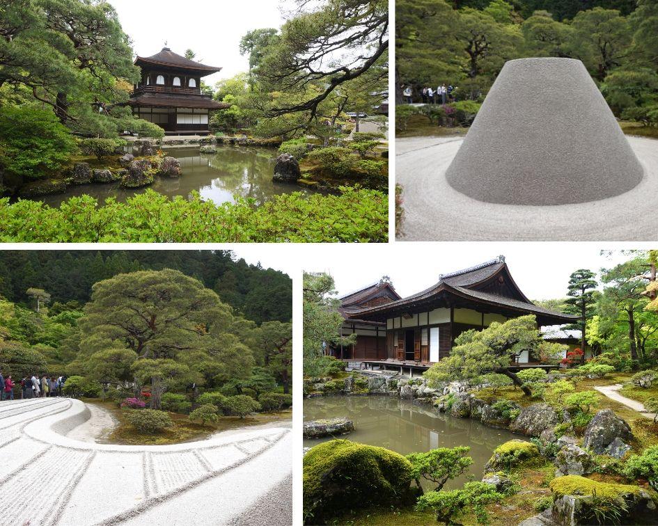 Ginkaku-ji, pavillon d'argent, kyoto, japon