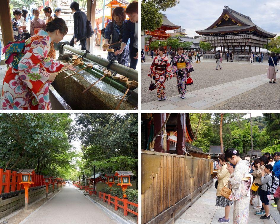 sanctuaire Yasaka-jinja, kyoto, japon