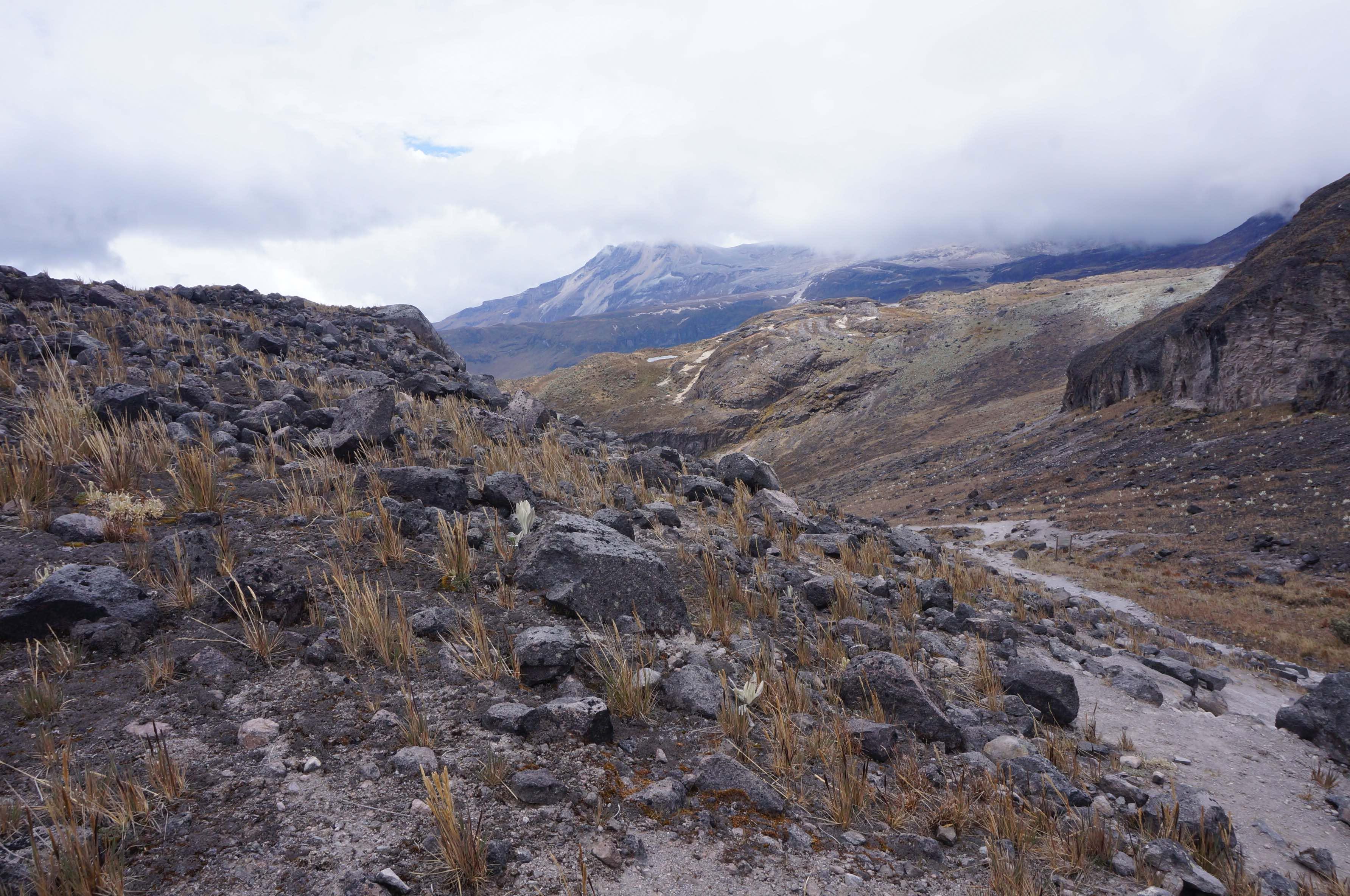 glacier santa isabel, colombie