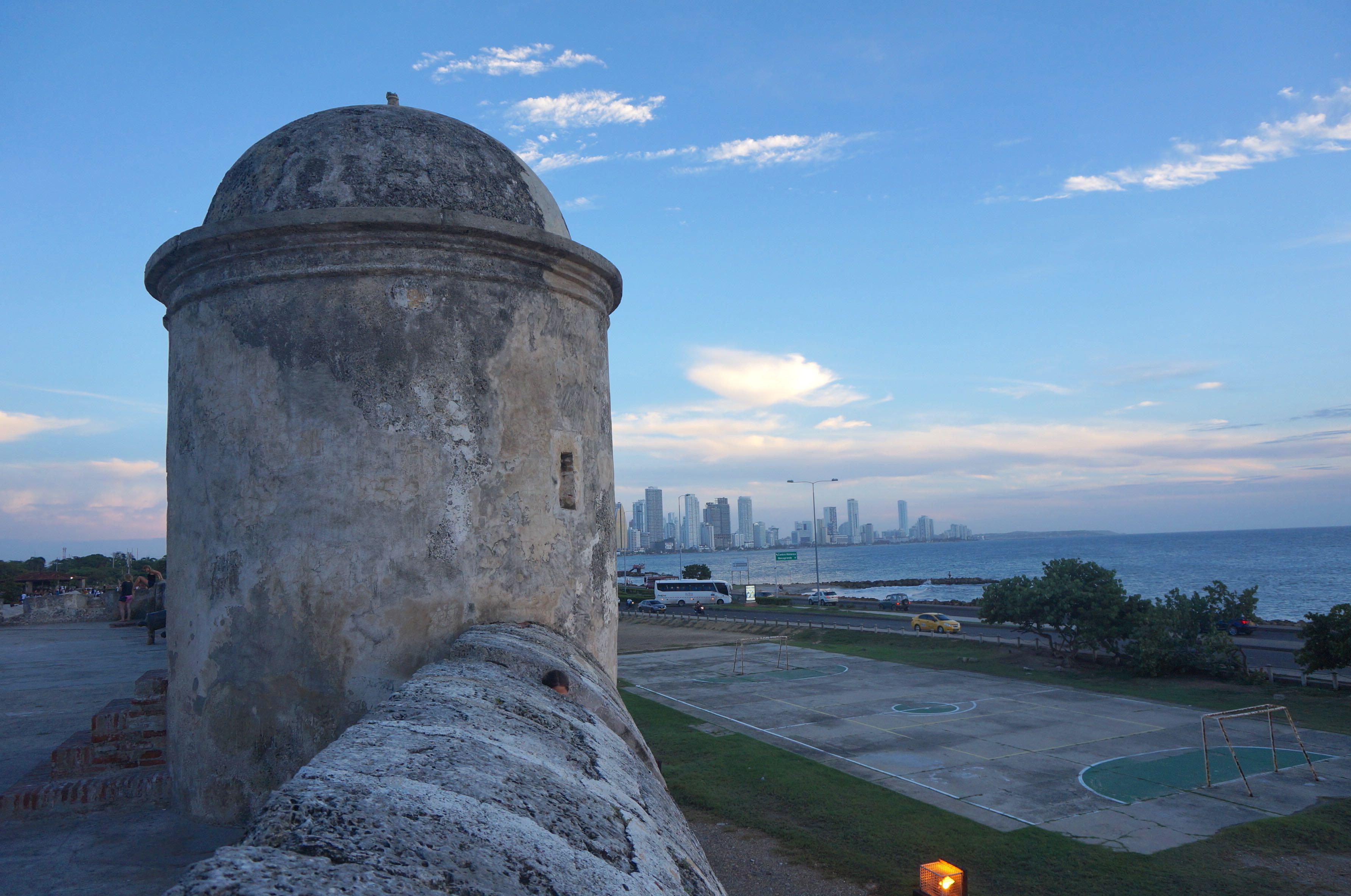 les remparts, carthagène des indes, colombie