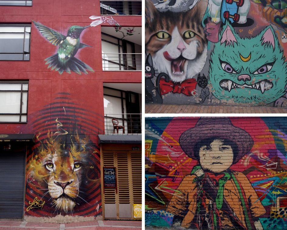 graffiti tour, la candeleria, bogota, colombie