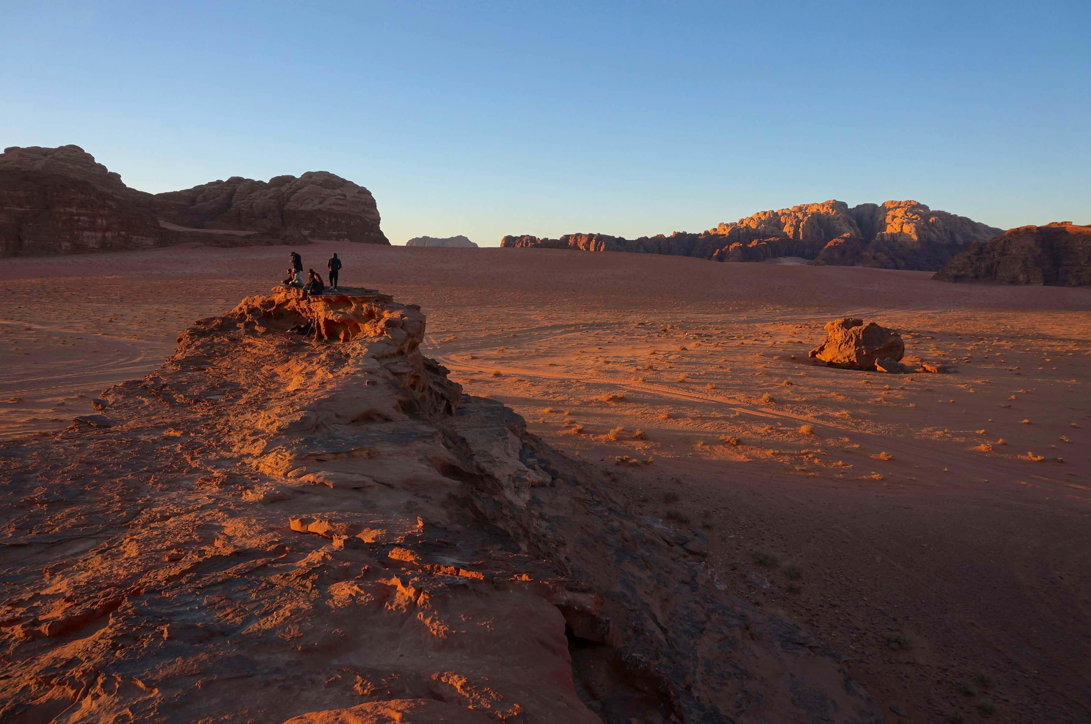 coucher de soleil, wadi rum, jordanie