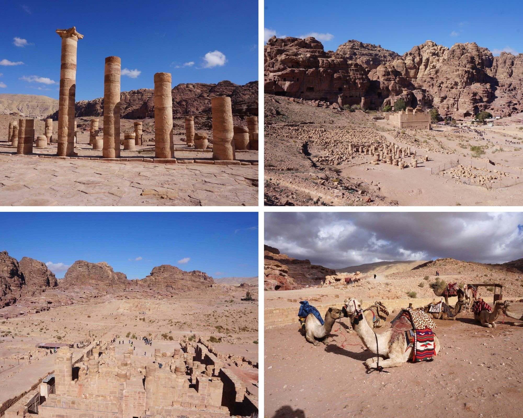 grand temple, jordanie, pétra