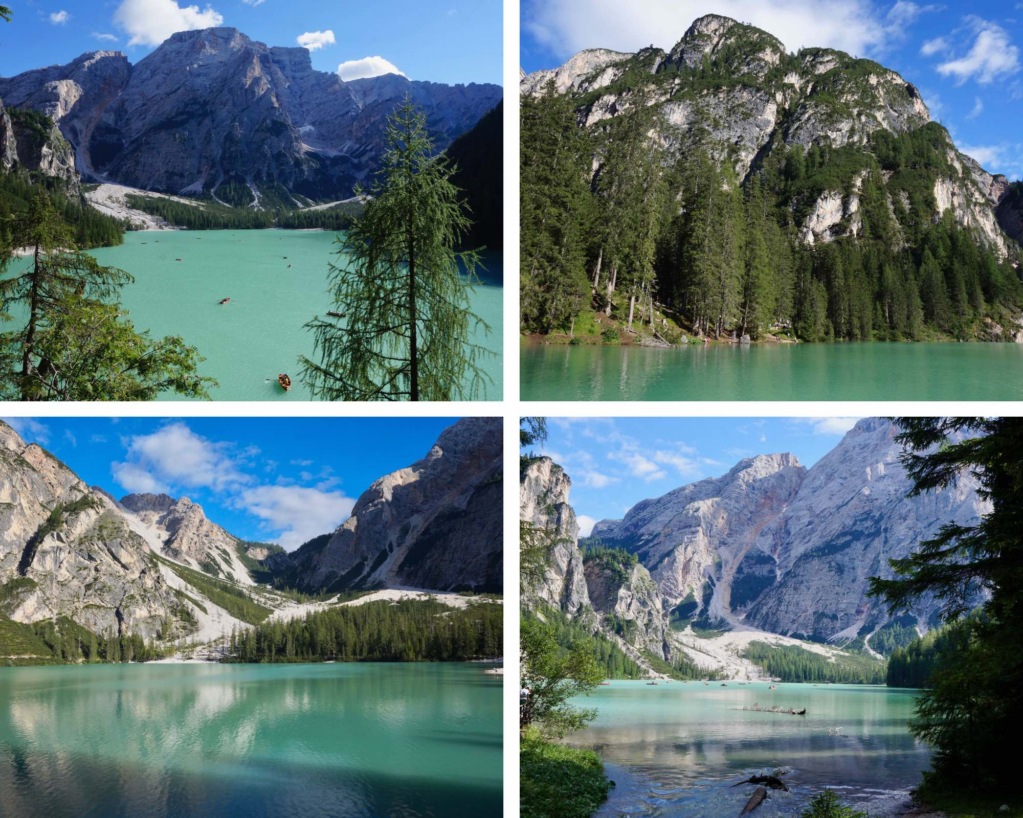 lago di braies, italie, dolomites