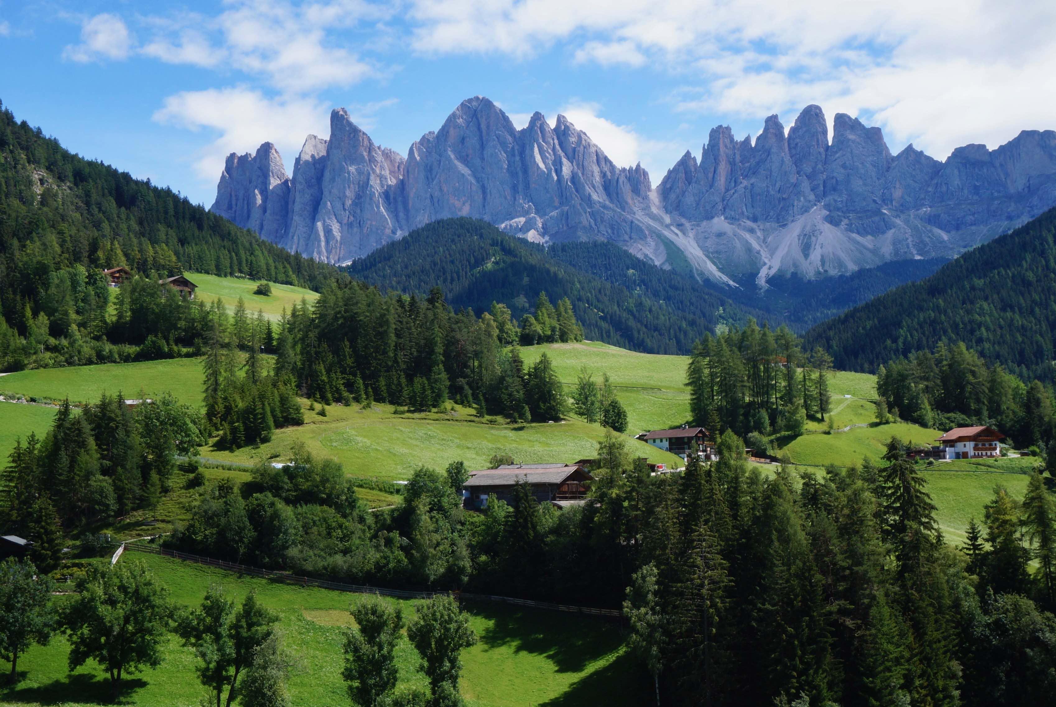 dolomites, Santa Maddalena, italie