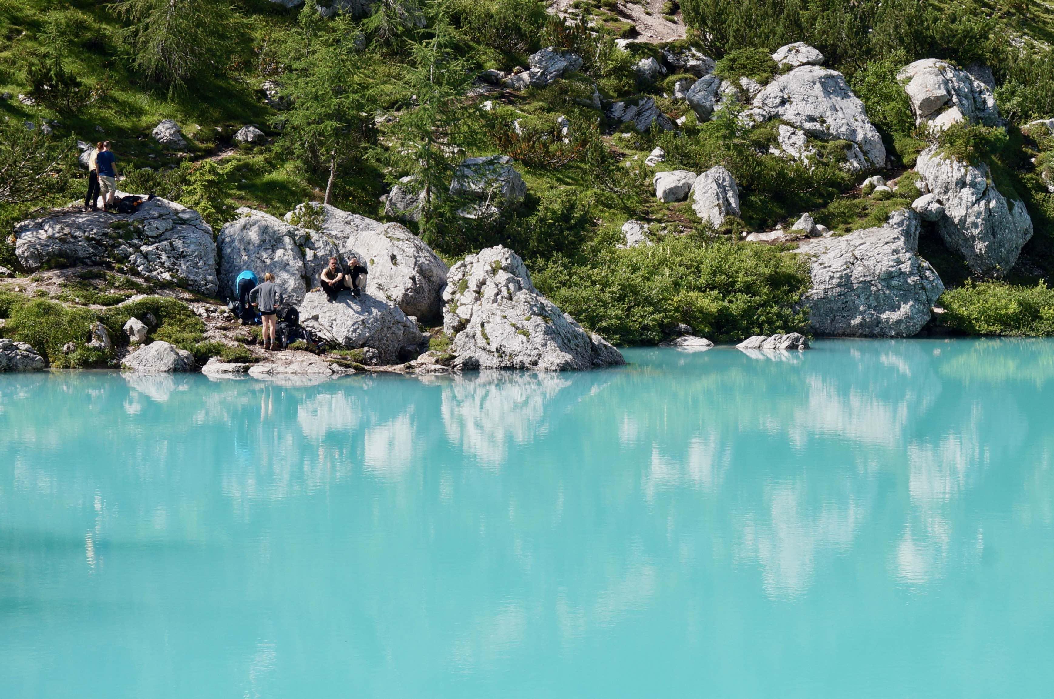 lago di sorapis, dolomites, italie