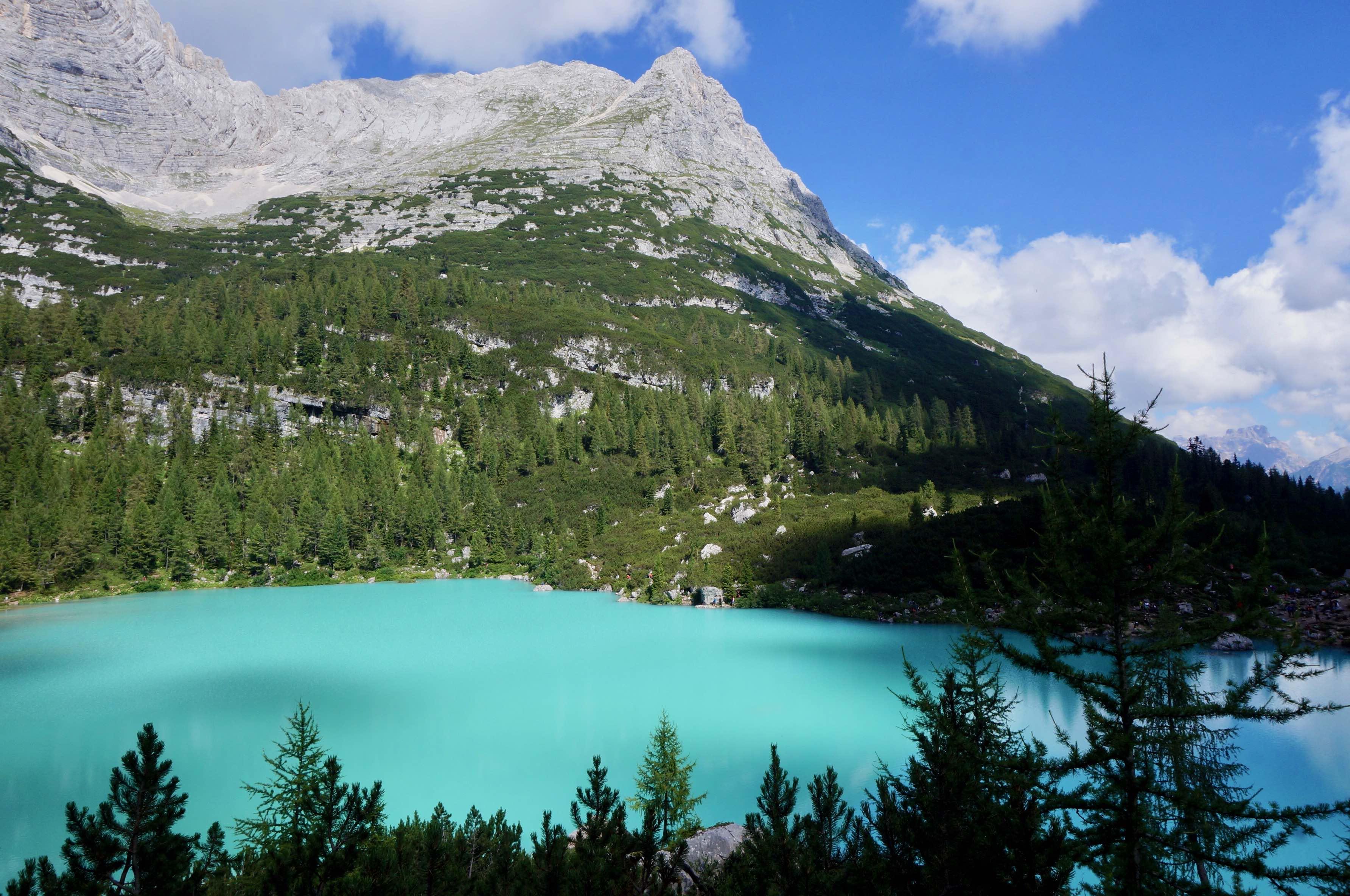 dolomites, lago di sopapis, italie