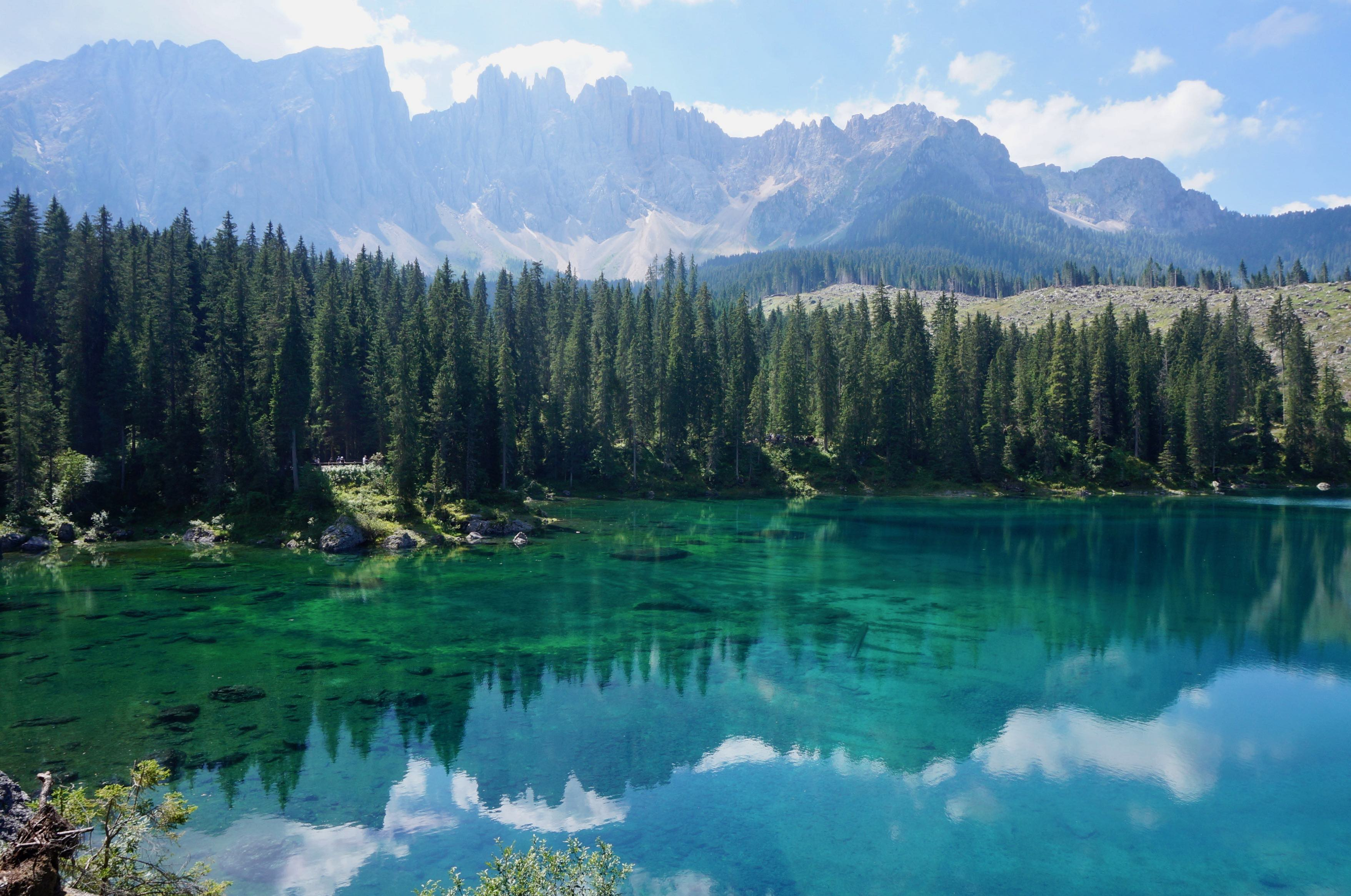 dolomites, lago di carezza, italie