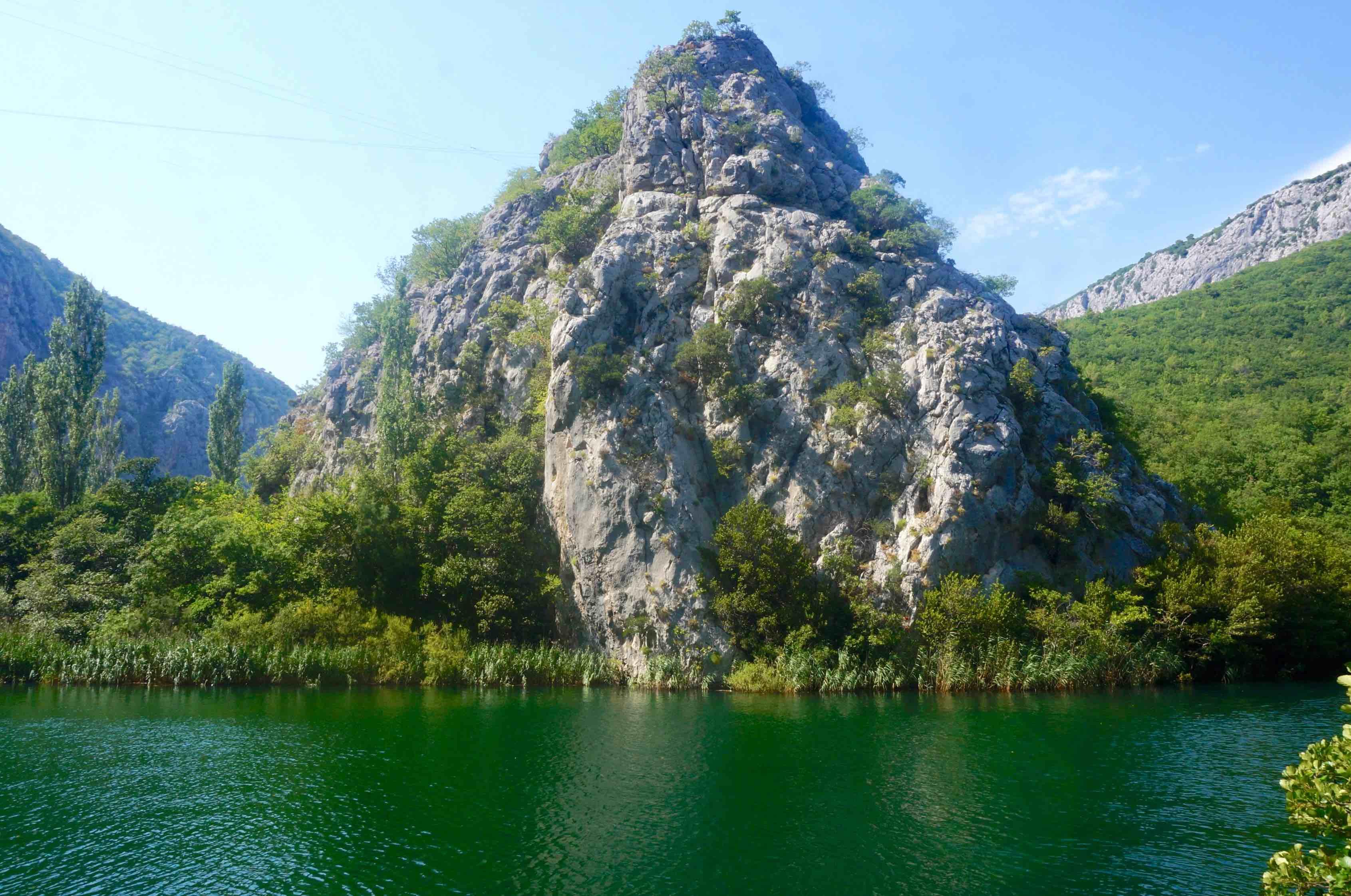 omis, cetina canyon, croatie