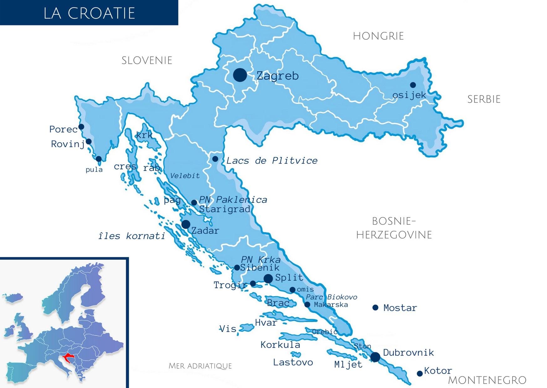 croatie, voyage en croatie