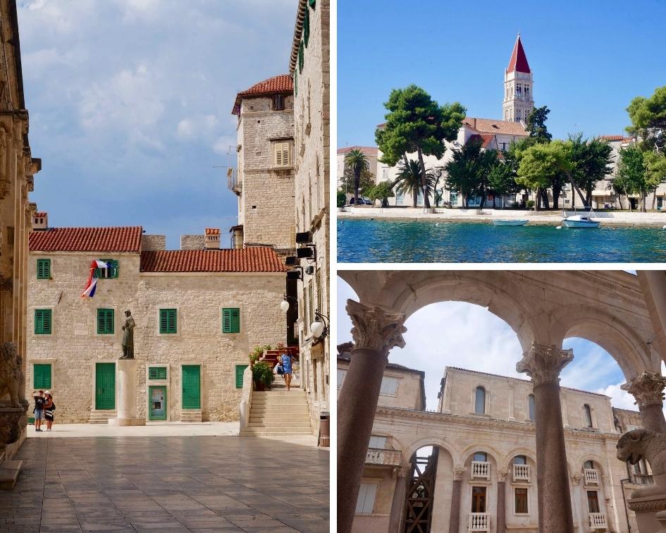 villes de croatie, trogir, split et sibenik