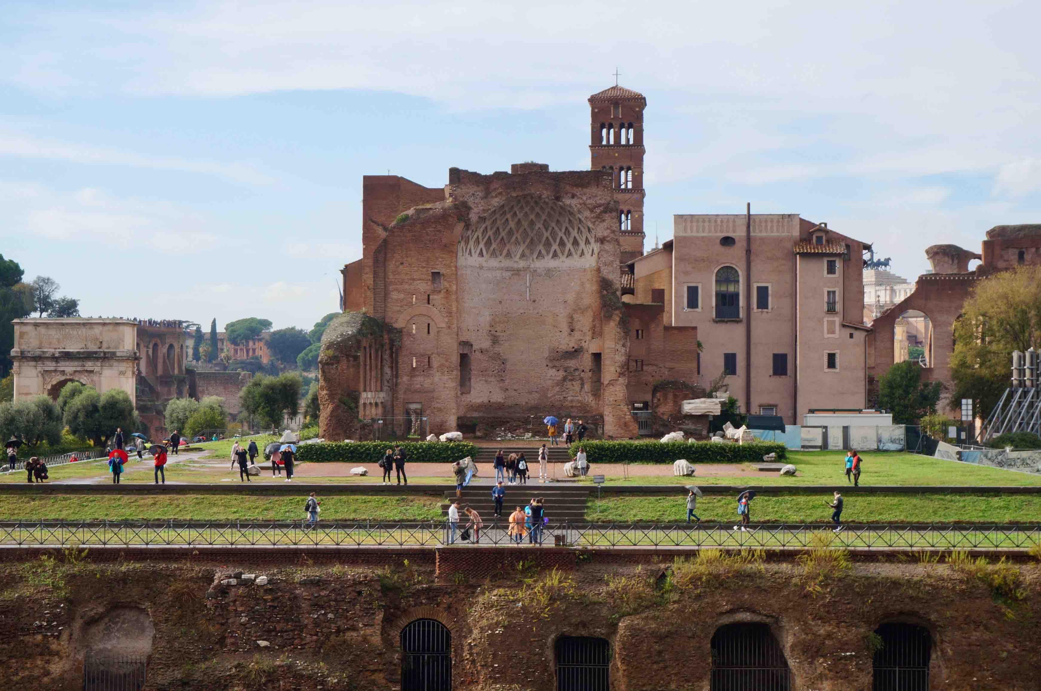 Mont palatin, rome, italie