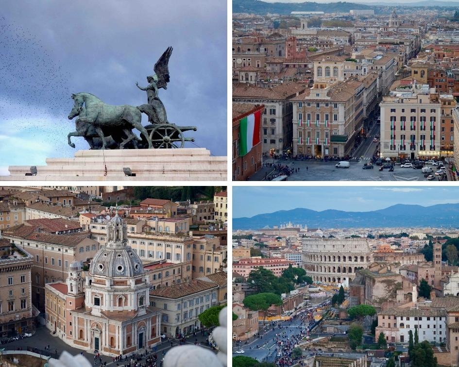 il vittoriano, rome, italie