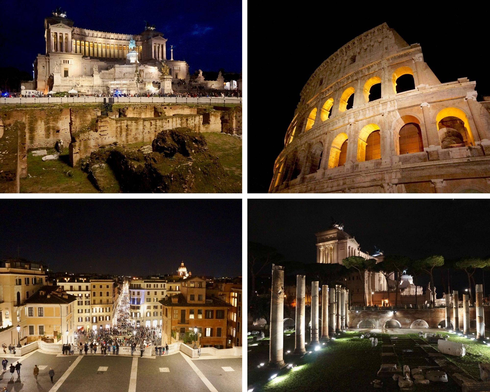 rome de nuit, italie