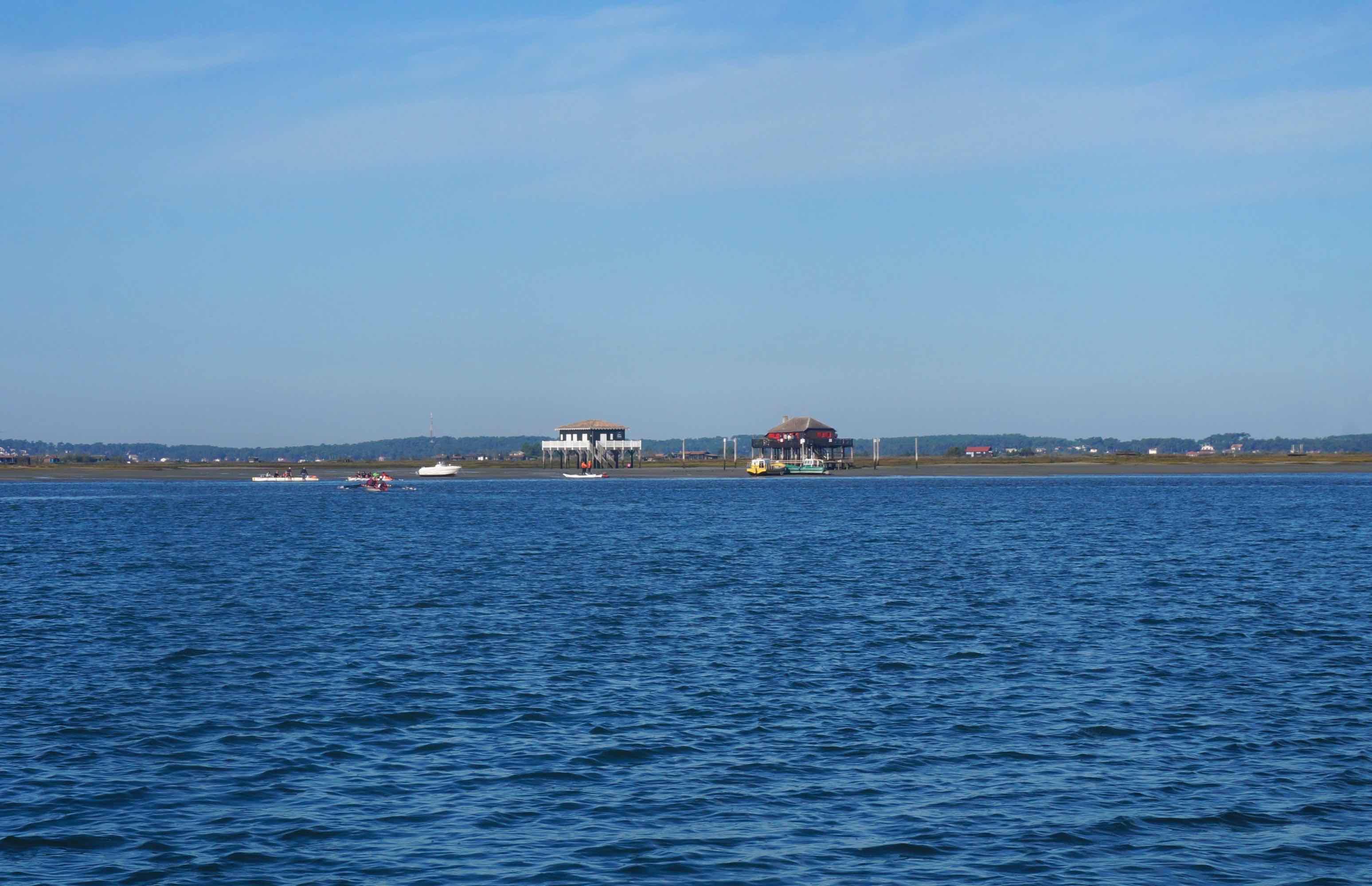 bassin d'arcachon, cabanes tchanquées, île aux oiseaux