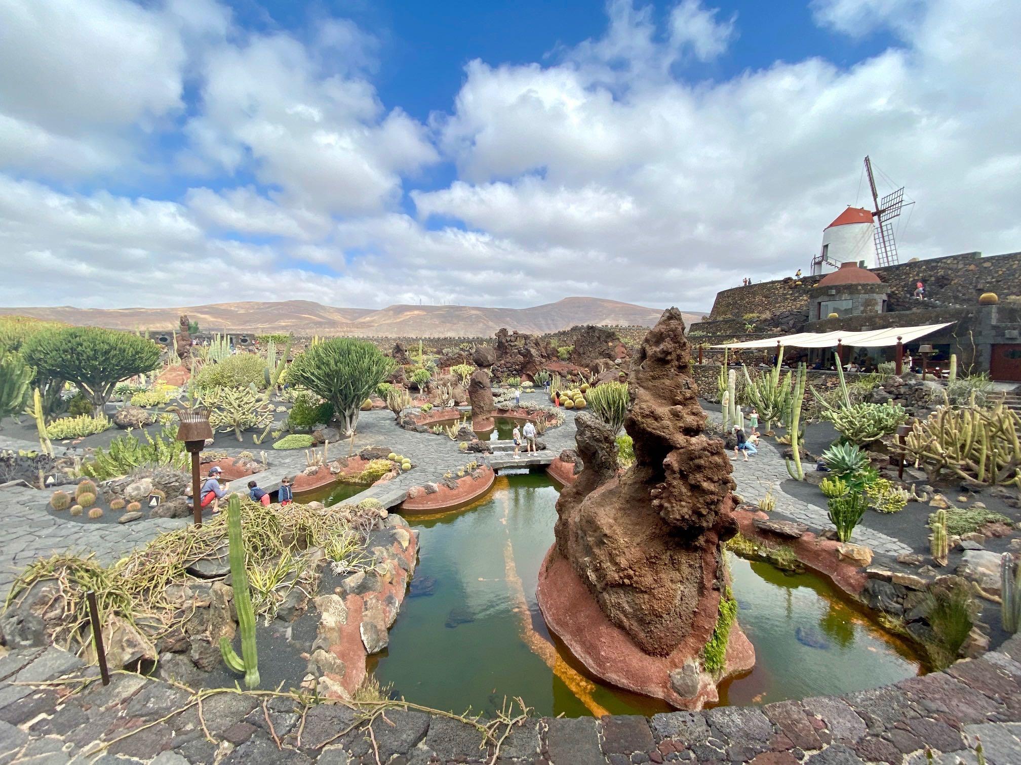 lanzarote, jardin du cactus, canaries