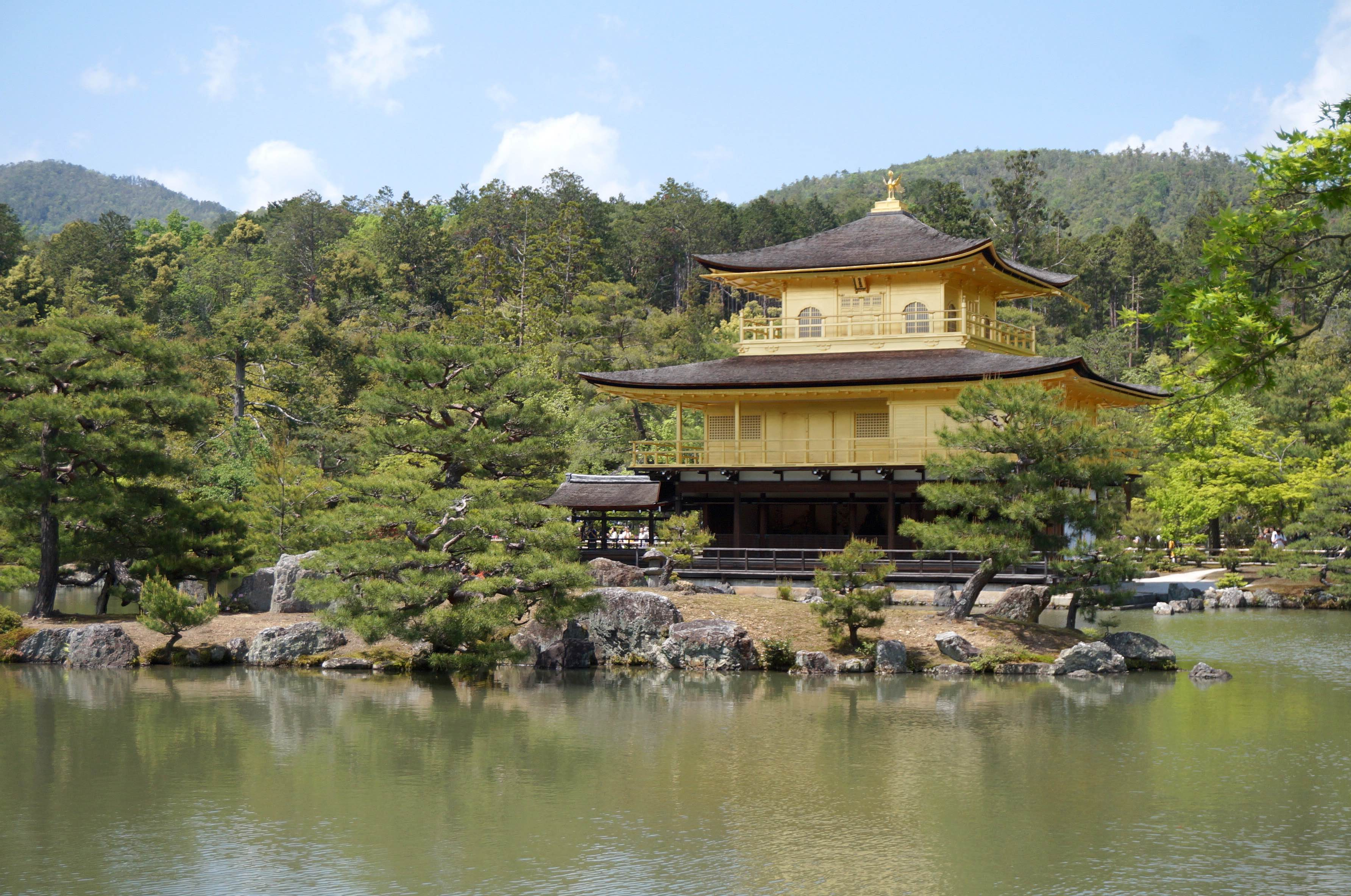 pabellón dorado, kinkaku-ji, kyoto, japón