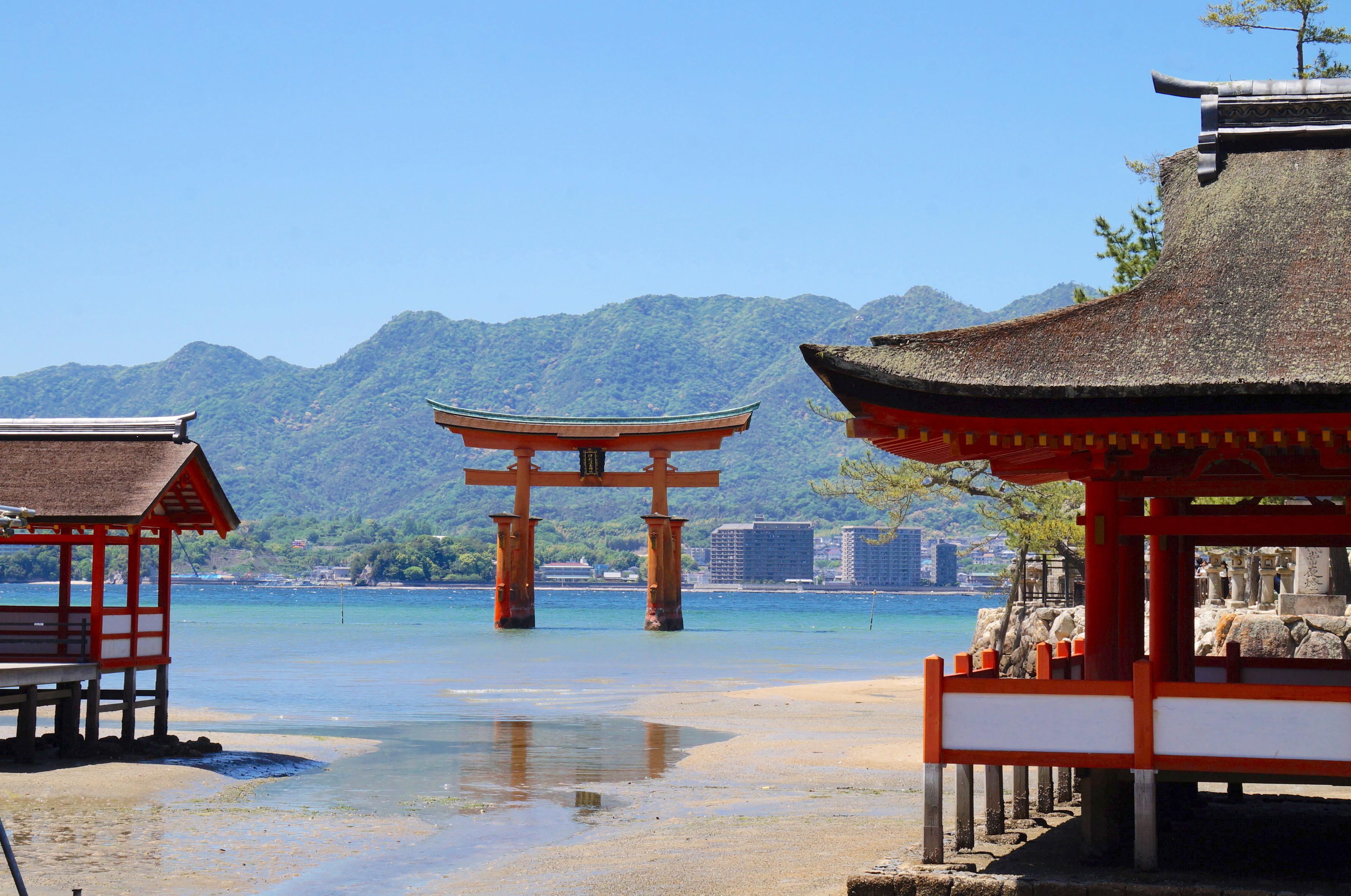 torii, isla miyajima, japón